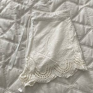 Urban Outfitters Lace White Shorts